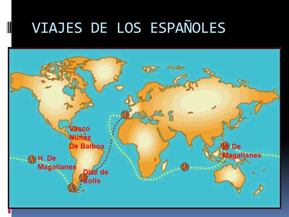 VIAJES DE LOS ESPAÑOLES