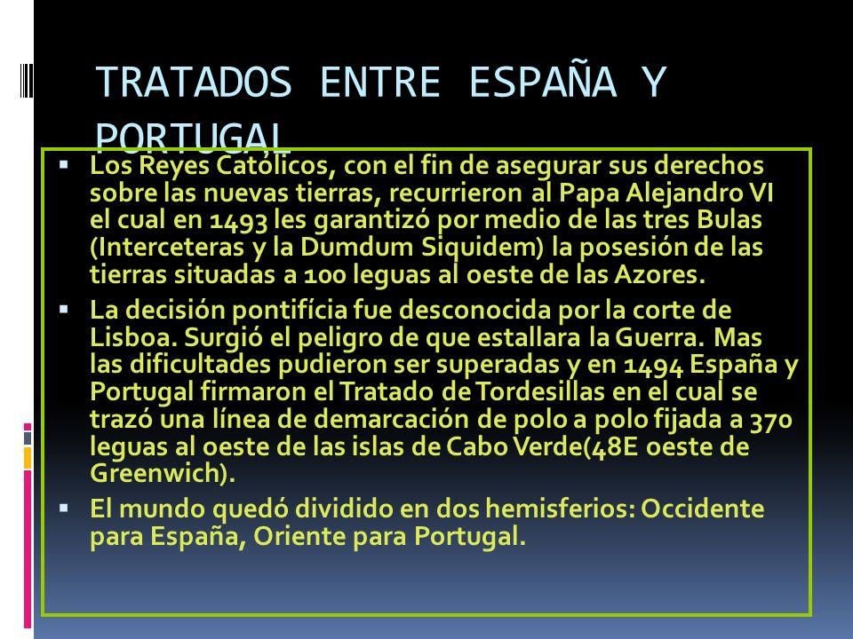 TRATADOS ENTRE ESPAÑA Y PORTUGAL