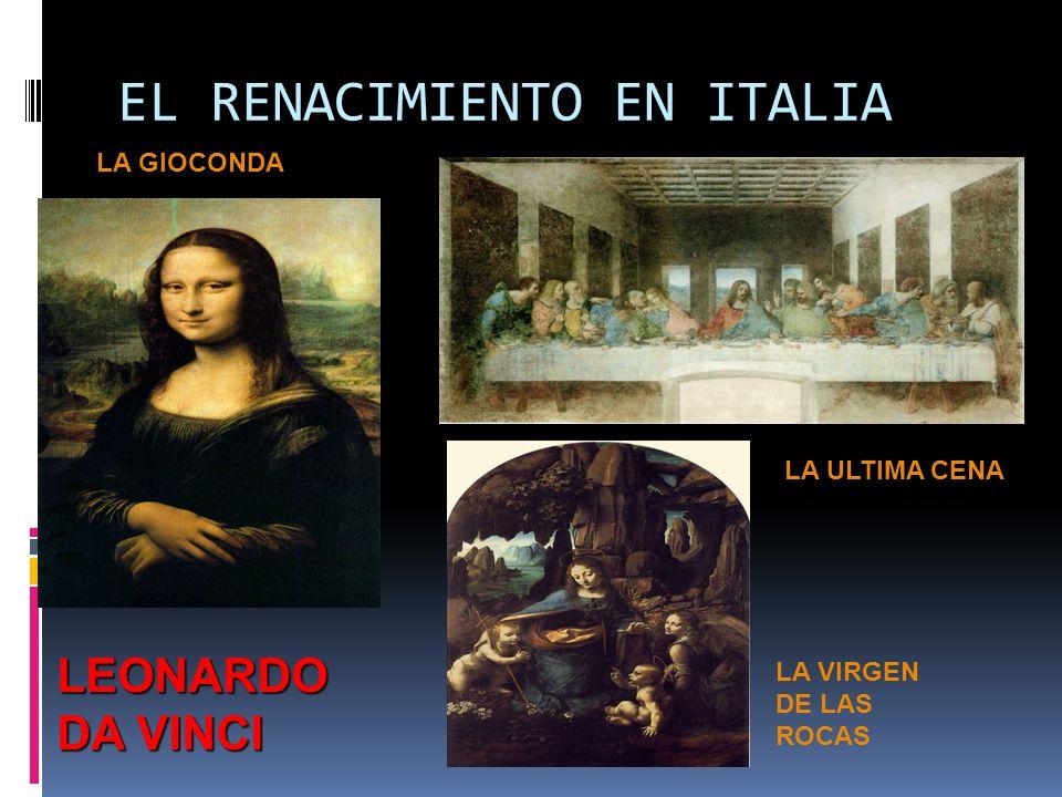 EL RENACIMIENTO EN ITALIA