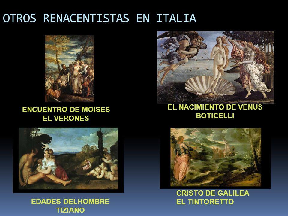 OTROS RENACENTISTAS EN ITALIA