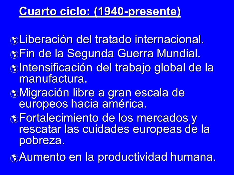 Cuarto ciclo: (1940-presente)