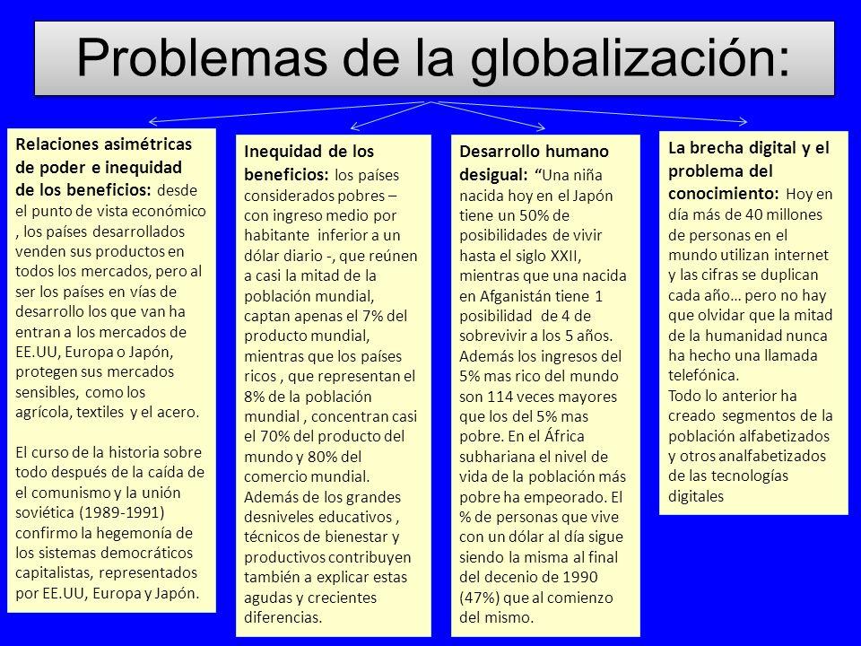 Problemas de la globalización: