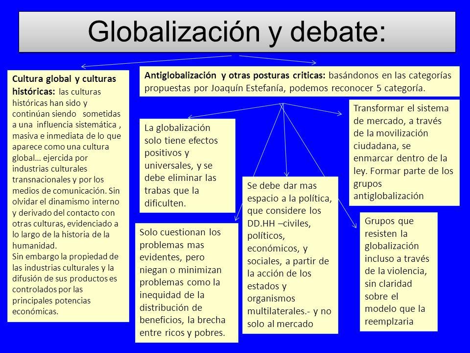 Globalización y debate: