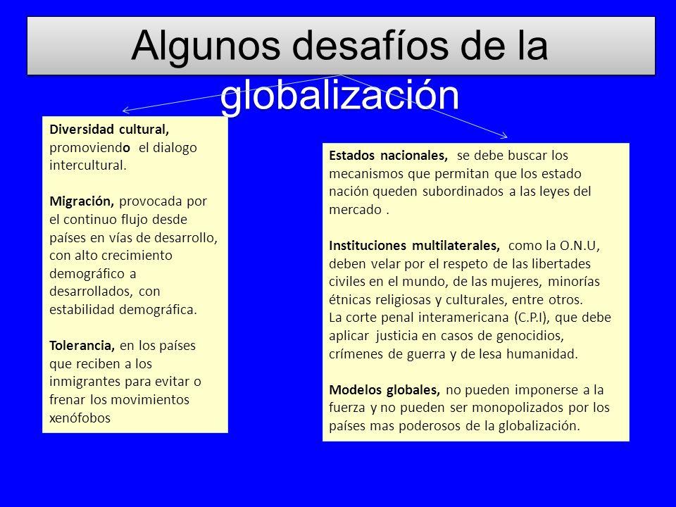 Algunos desafíos de la globalización