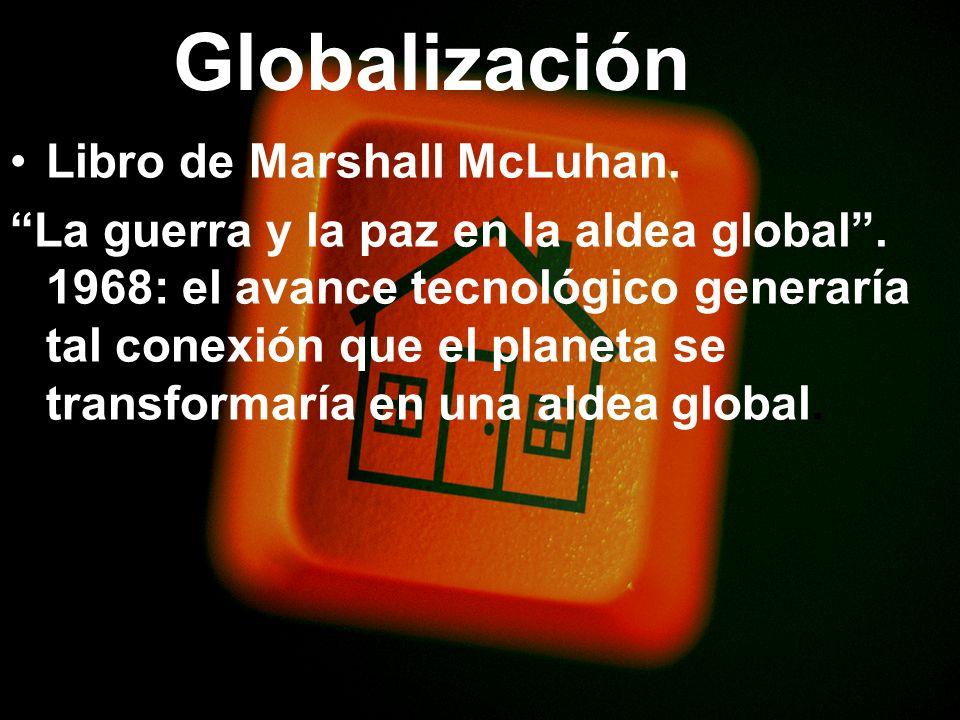 Globalización Libro de Marshall McLuhan.