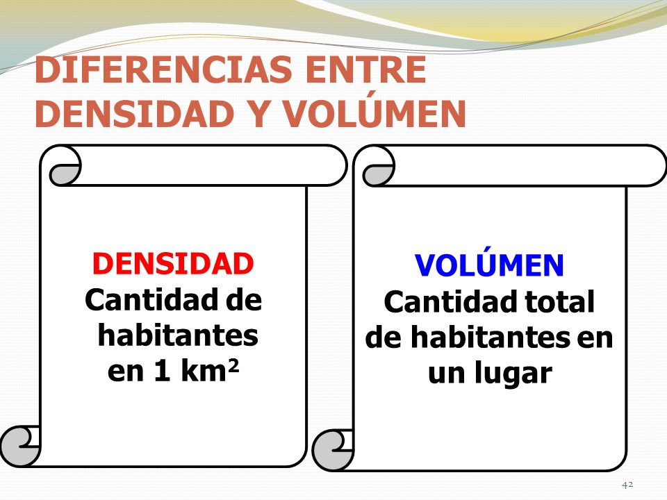DIFERENCIAS ENTRE DENSIDAD Y VOLÚMEN