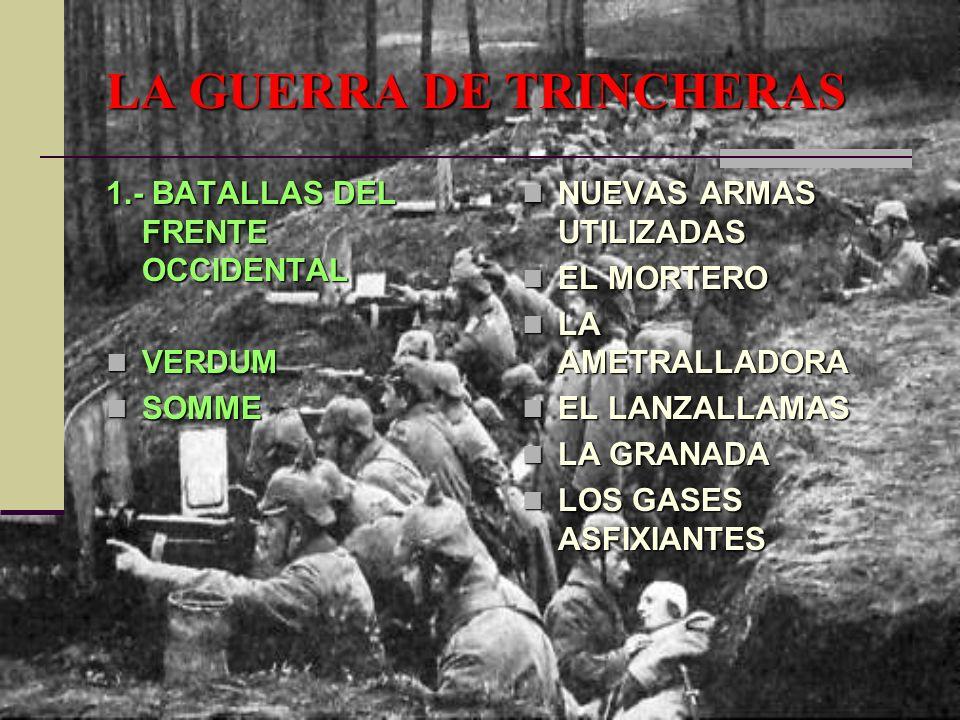 LA GUERRA DE TRINCHERAS