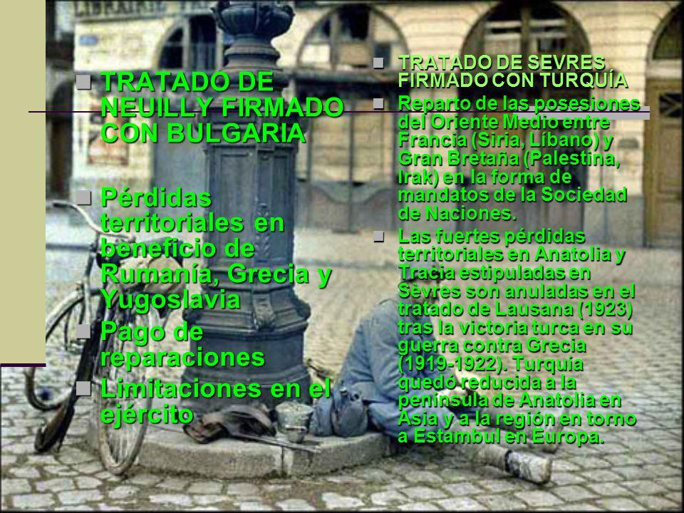 TRATADO DE NEUILLY FIRMADO CON BULGARIA