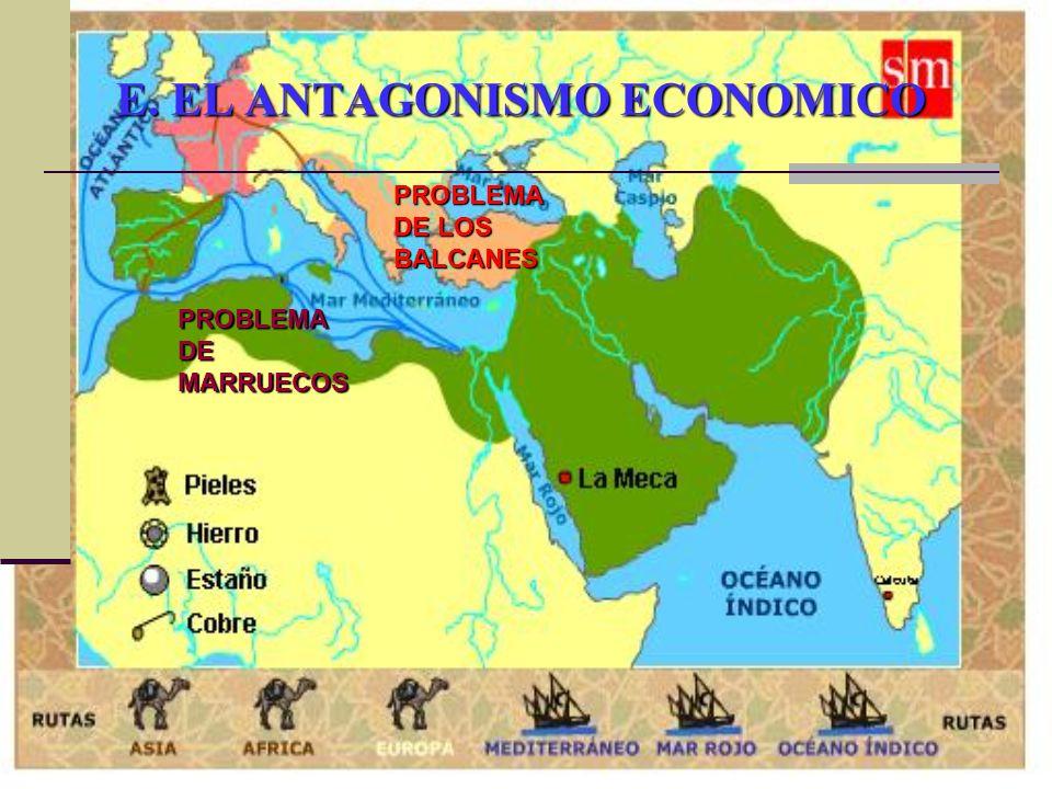 E. EL ANTAGONISMO ECONOMICO