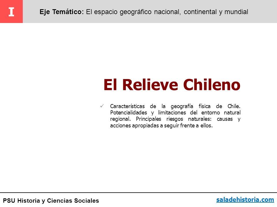 I Eje Temático: El espacio geográfico nacional, continental y mundial. El Relieve Chileno.