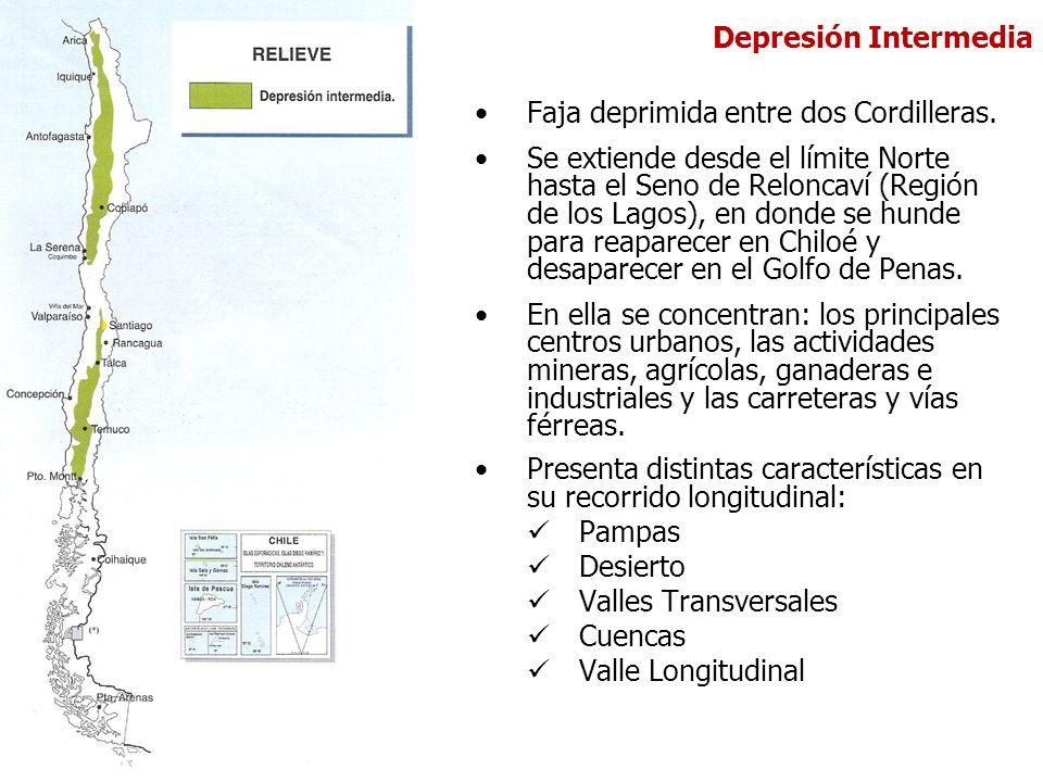 Depresión Intermedia Faja deprimida entre dos Cordilleras.