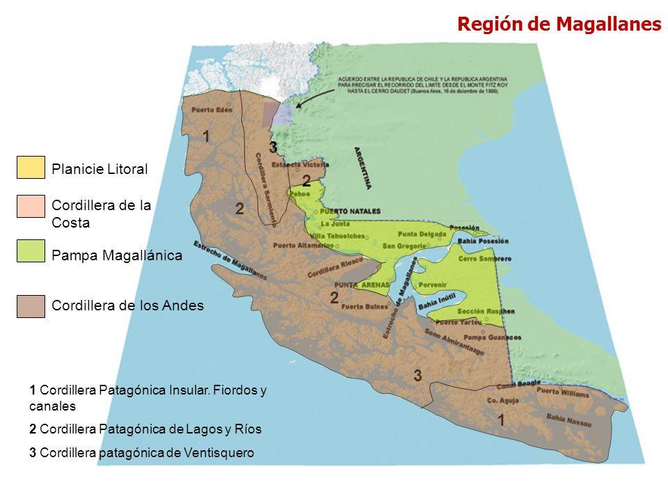 Región de Magallanes 1 3 2 2 2 3 1 Planicie Litoral