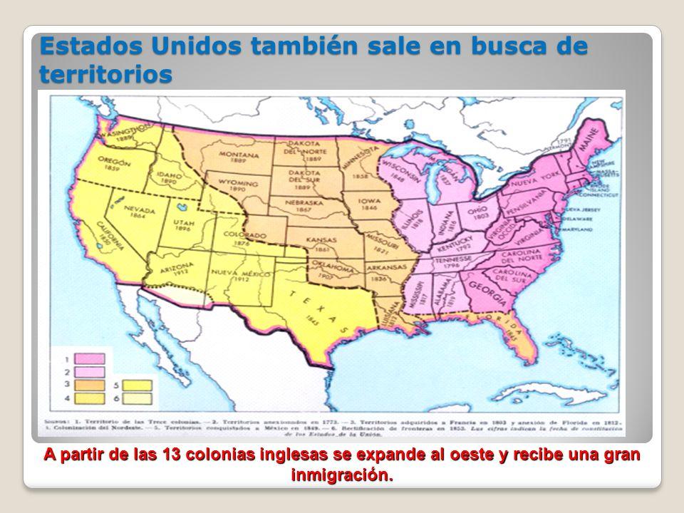 Estados Unidos también sale en busca de territorios