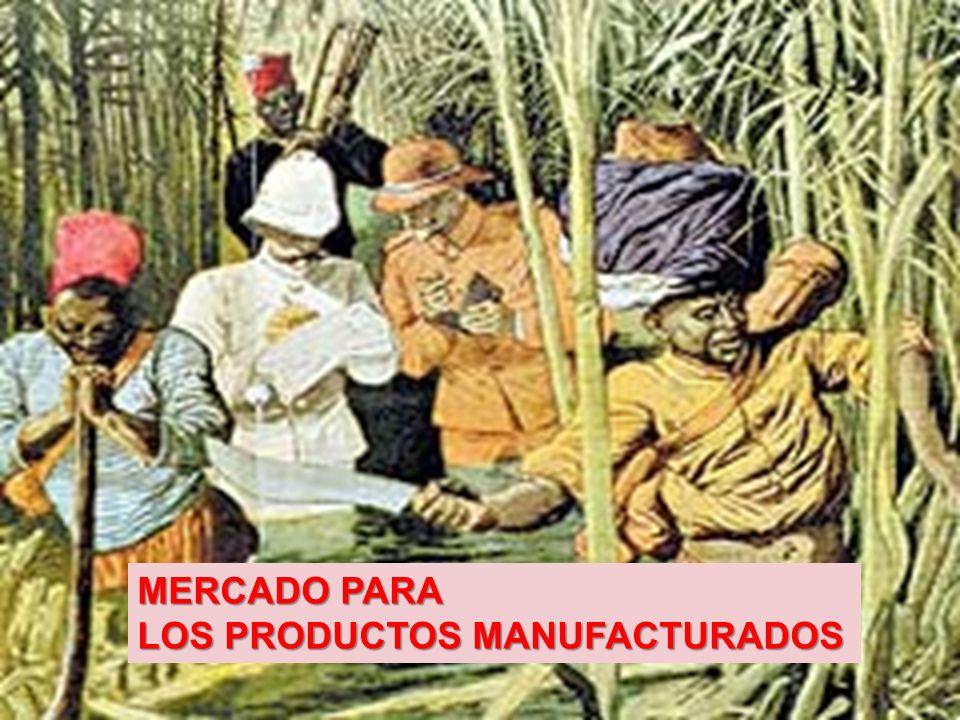 MERCADO PARA LOS PRODUCTOS MANUFACTURADOS