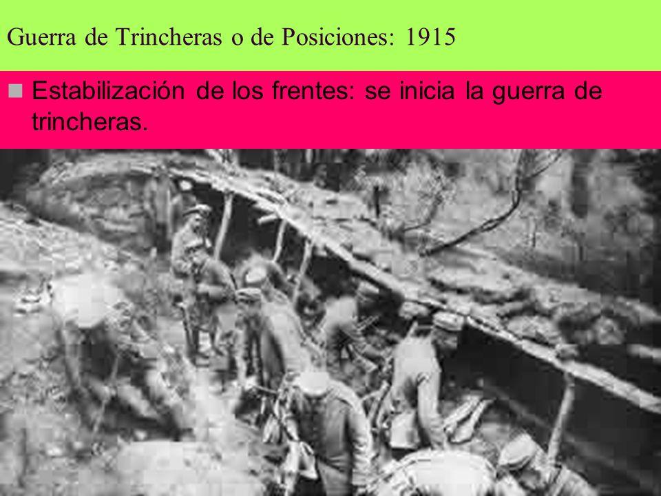 Guerra de Trincheras o de Posiciones: 1915