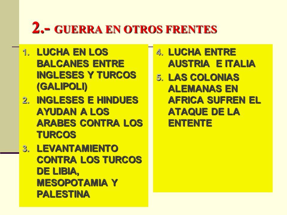 2.- GUERRA EN OTROS FRENTES