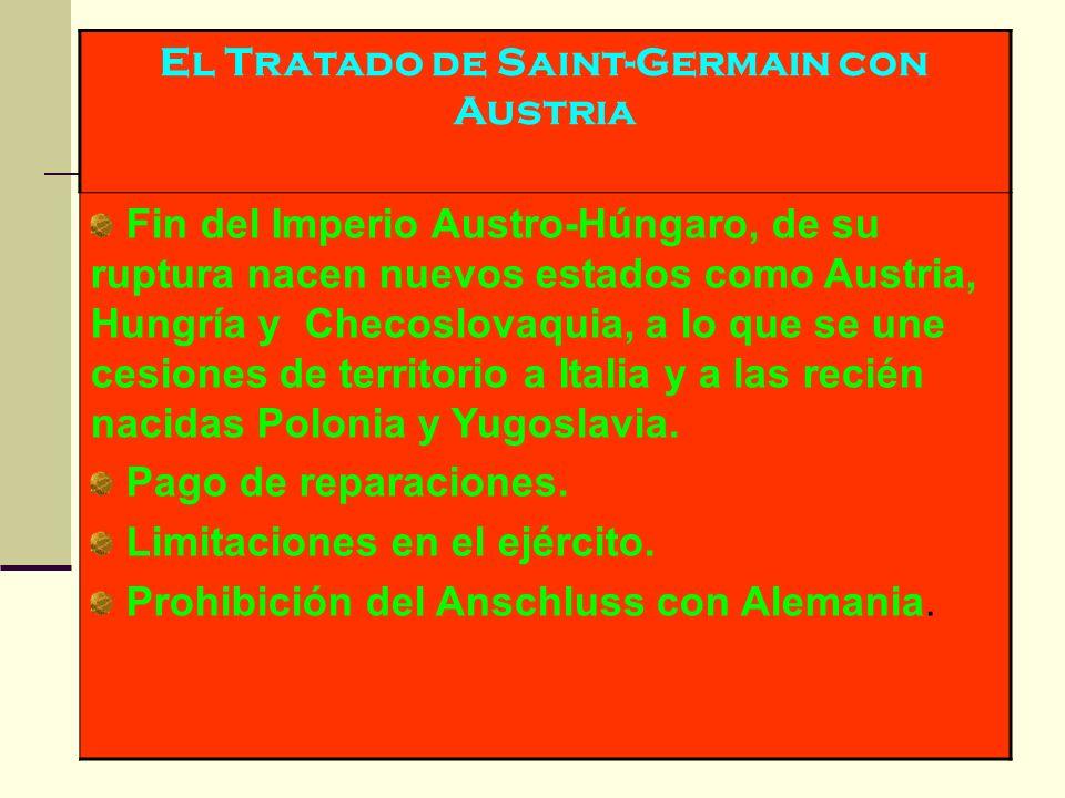 El Tratado de Saint-Germain con Austria