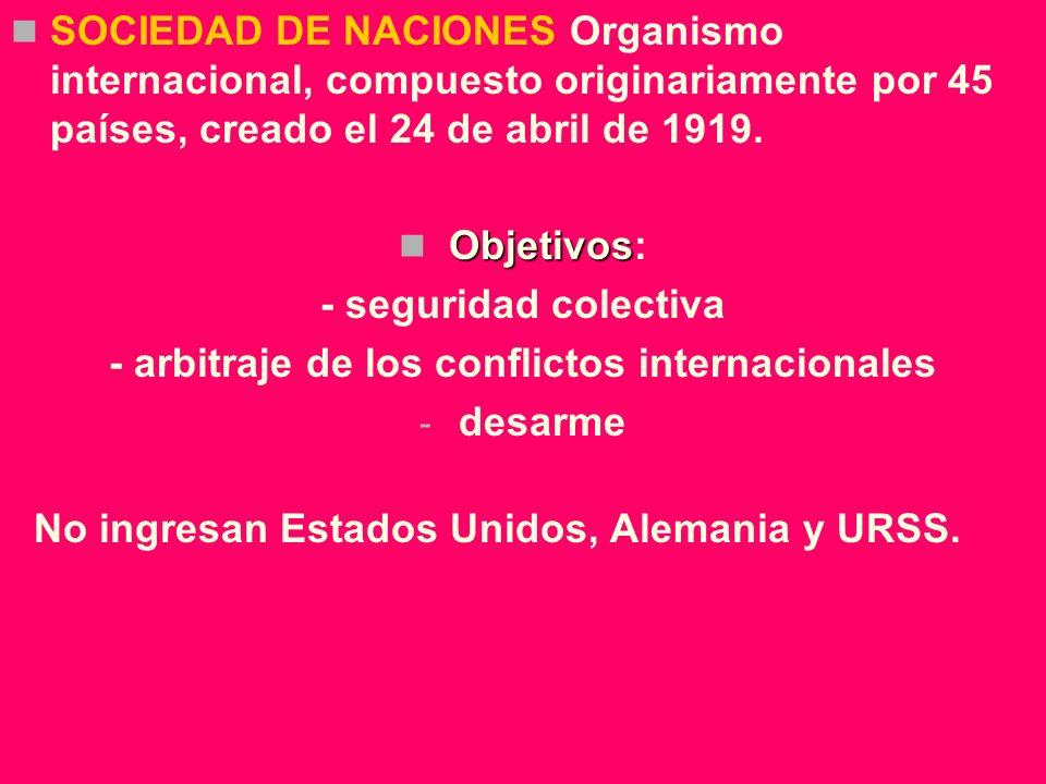 - arbitraje de los conflictos internacionales