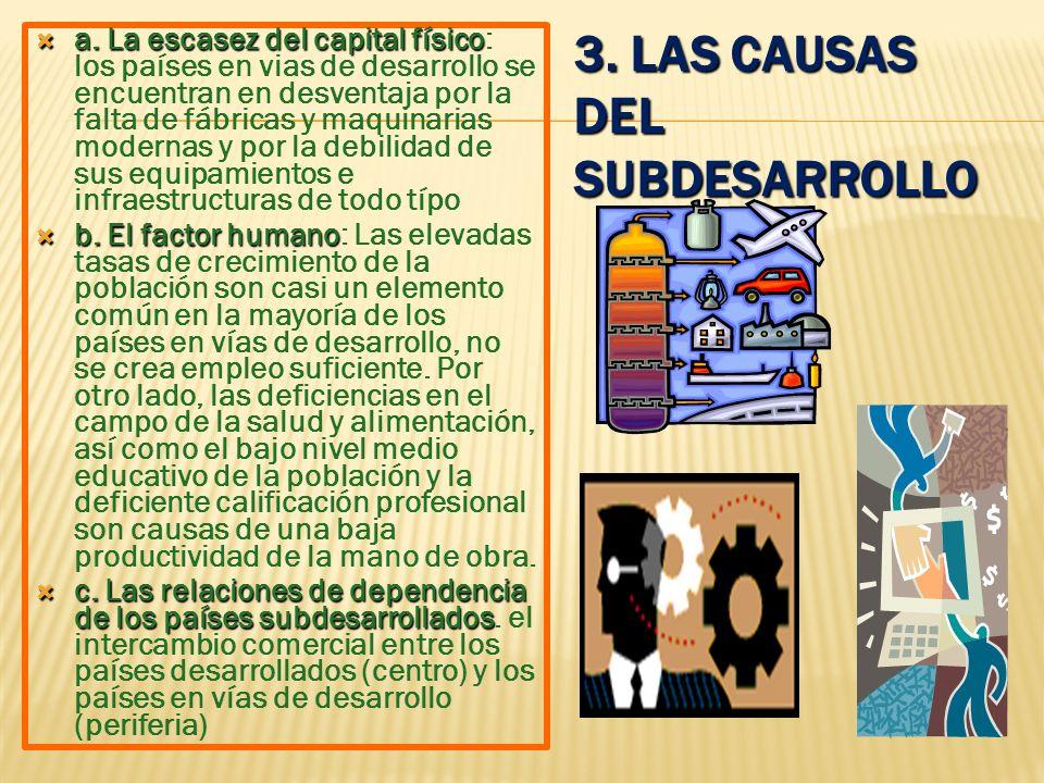 3. Las causas del subdesarrollo