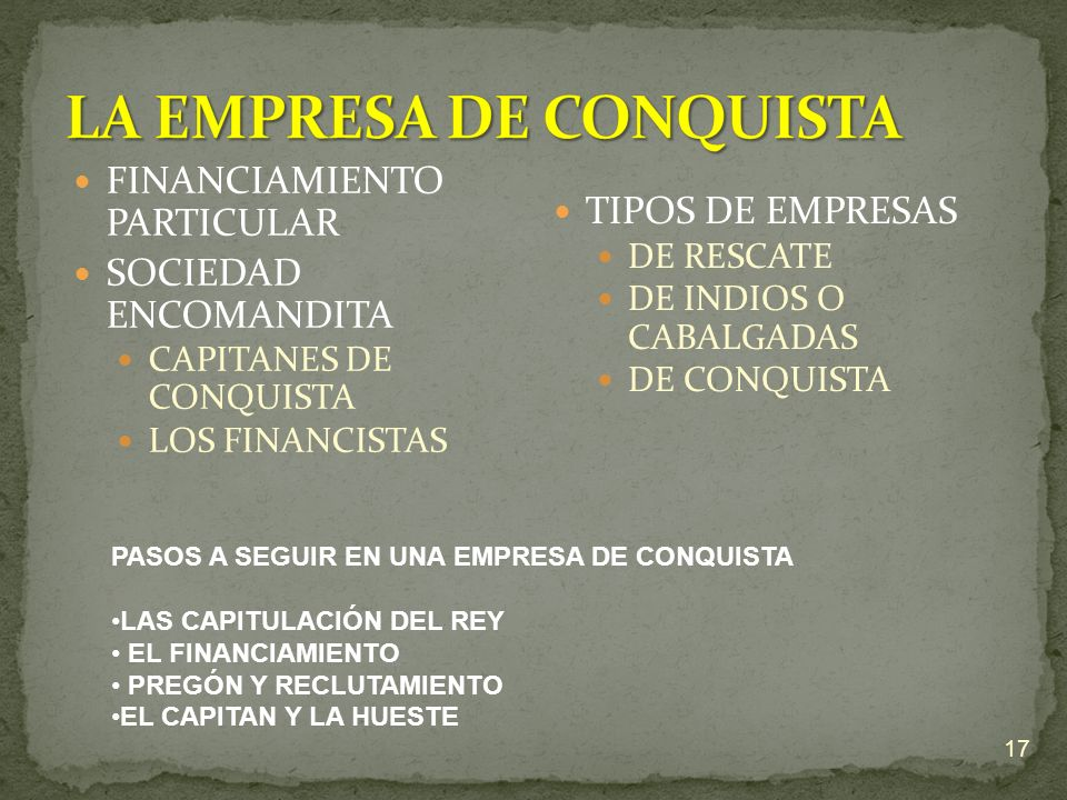 LA EMPRESA DE CONQUISTA
