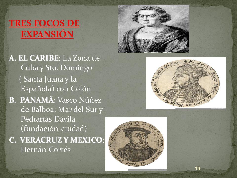 TRES FOCOS DE EXPANSIÓN