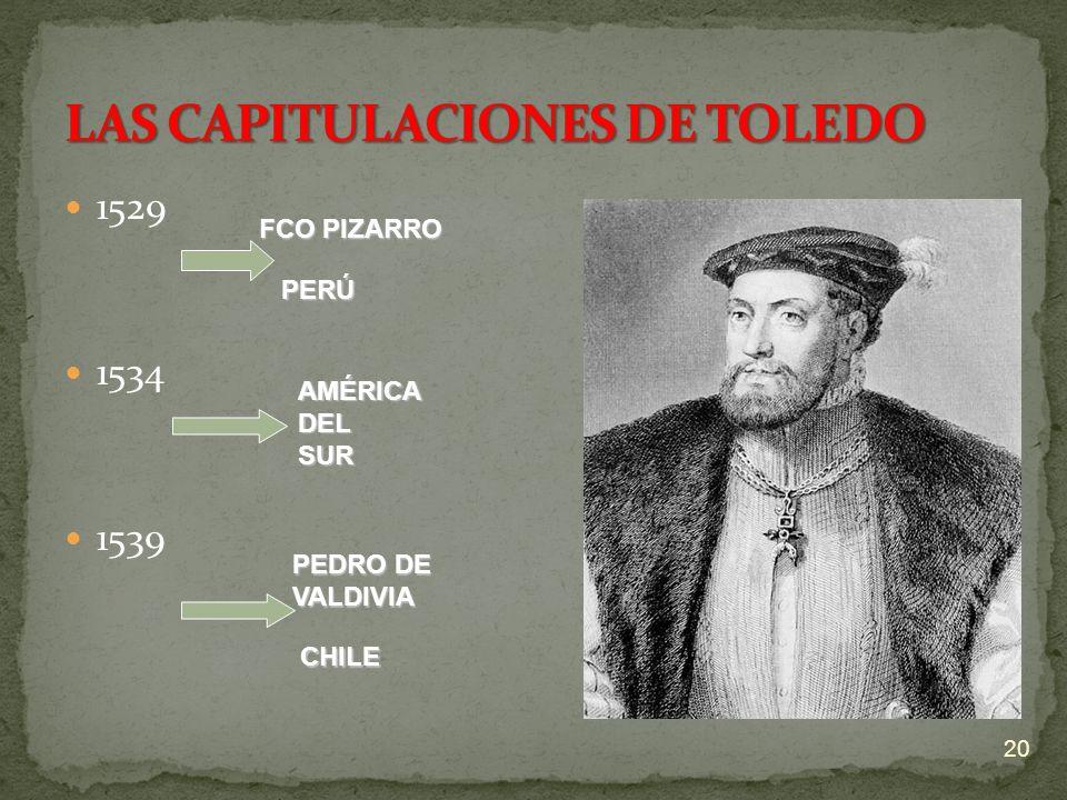 LAS CAPITULACIONES DE TOLEDO