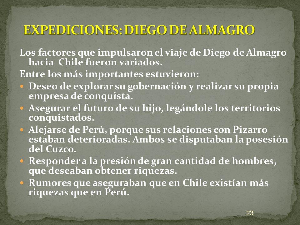 EXPEDICIONES: DIEGO DE ALMAGRO