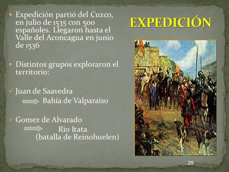 Expedición partió del Cuzco, en julio de 1535 con 500 españoles