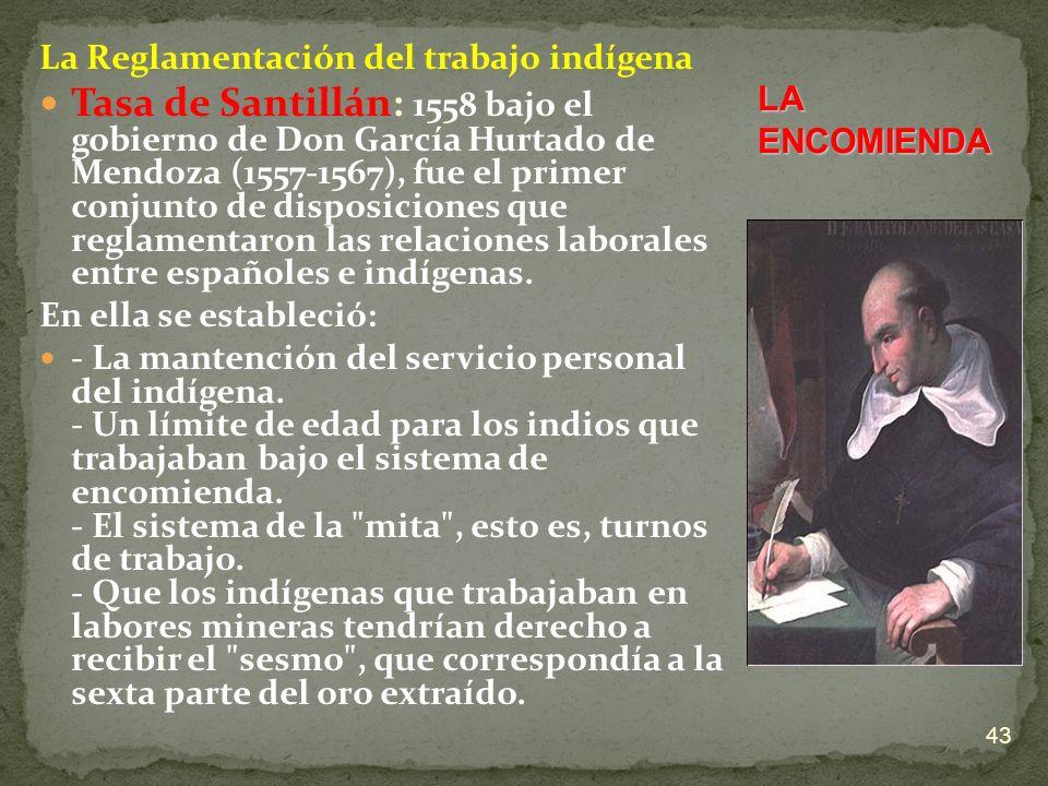 La Reglamentación del trabajo indígena