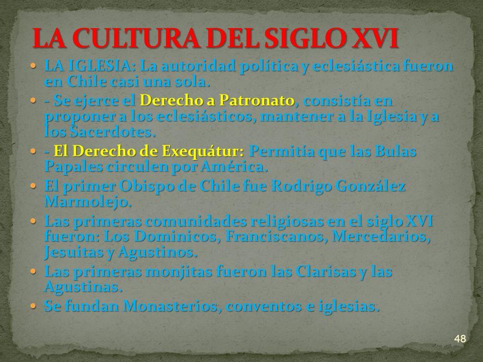 LA CULTURA DEL SIGLO XVI