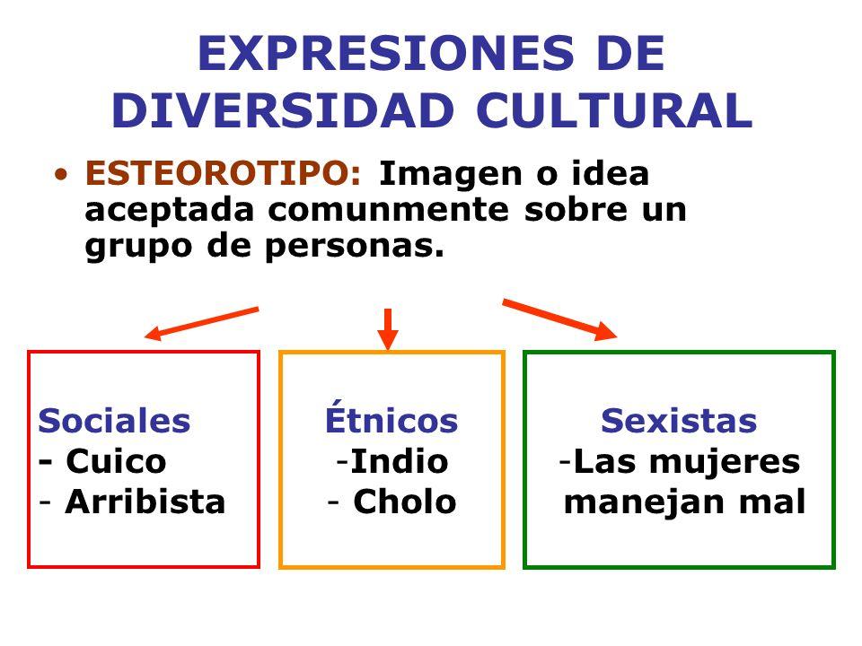 EXPRESIONES DE DIVERSIDAD CULTURAL