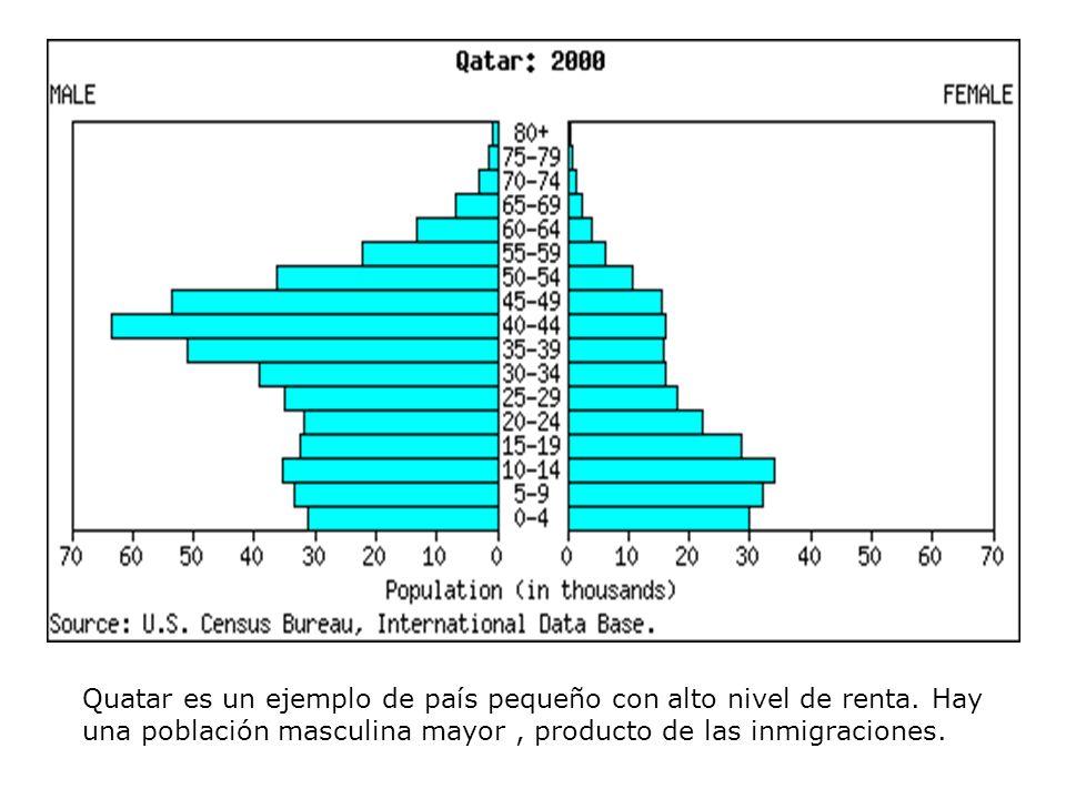 Quatar es un ejemplo de país pequeño con alto nivel de renta