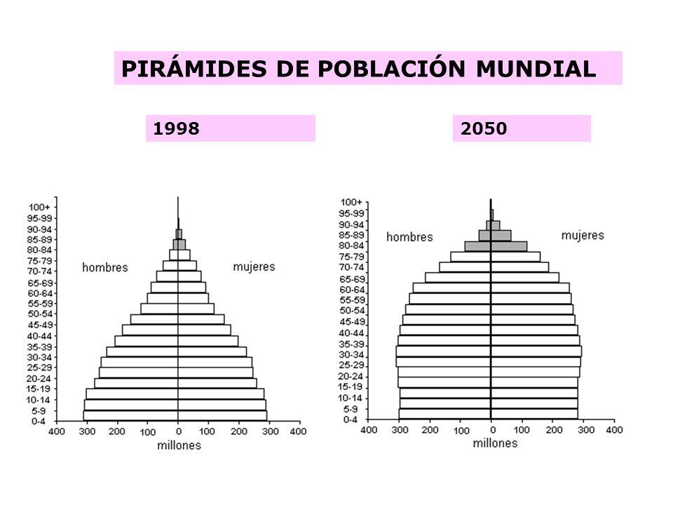 PIRÁMIDES DE POBLACIÓN MUNDIAL