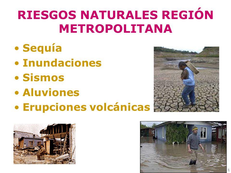 RIESGOS NATURALES REGIÓN METROPOLITANA