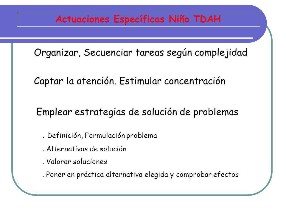 Actuaciones Específicas Niño TDAH