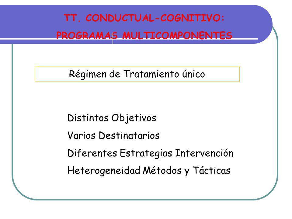 TT. CONDUCTUAL-COGNITIVO: PROGRAMAS MULTICOMPONENTES