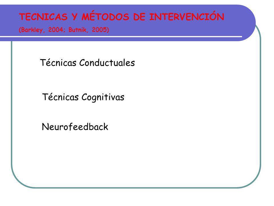 TECNICAS Y MÉTODOS DE INTERVENCIÓN