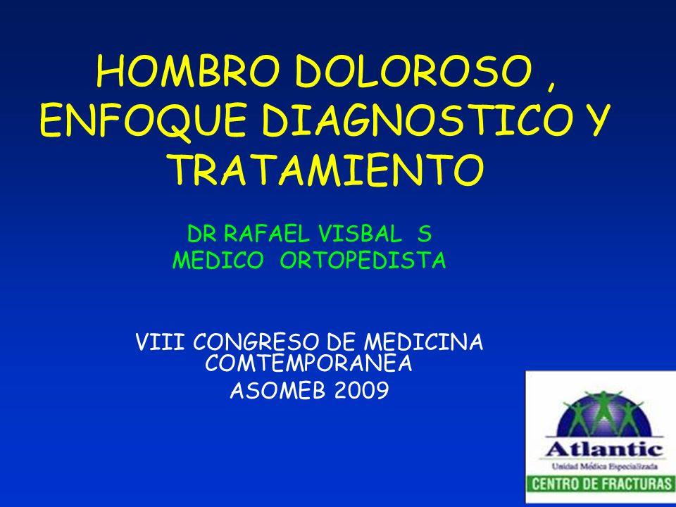 HOMBRO DOLOROSO , ENFOQUE DIAGNOSTICO Y TRATAMIENTO