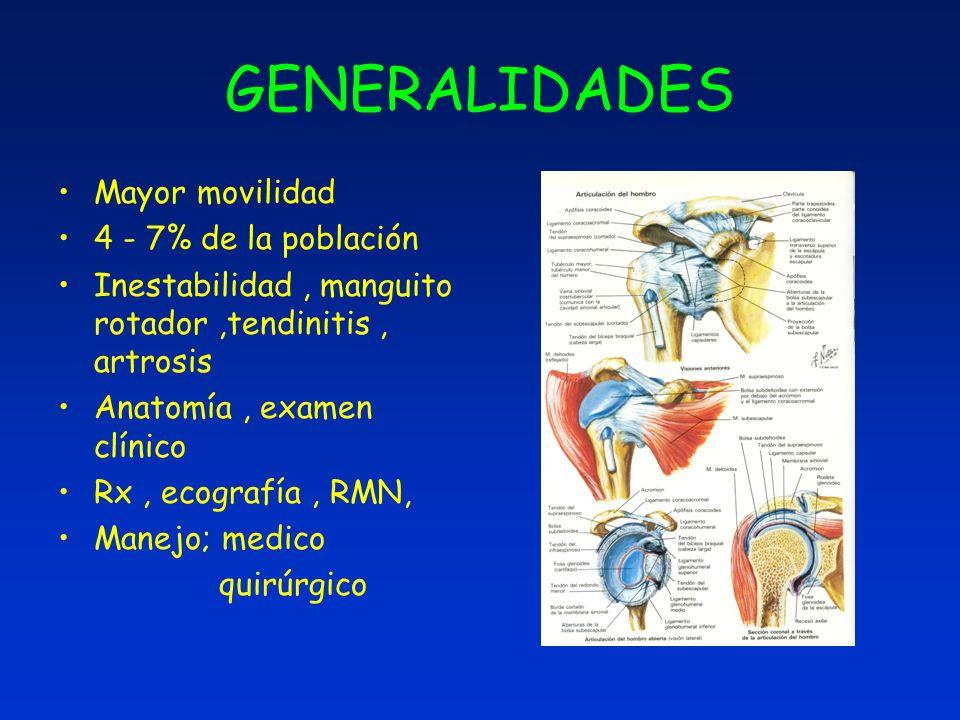 GENERALIDADES Mayor movilidad 4 - 7% de la población