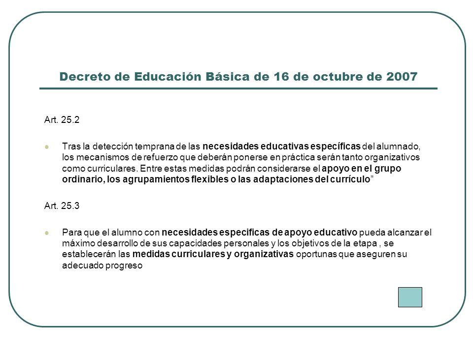 Decreto de Educación Básica de 16 de octubre de 2007