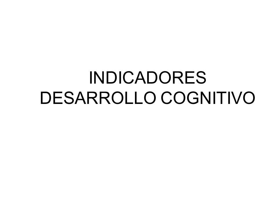 INDICADORES DESARROLLO COGNITIVO