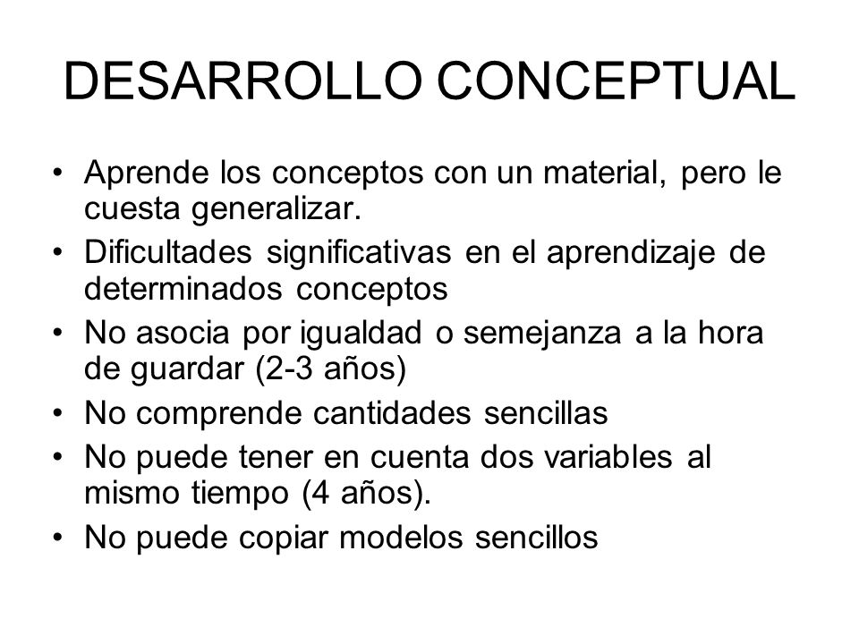 DESARROLLO CONCEPTUAL