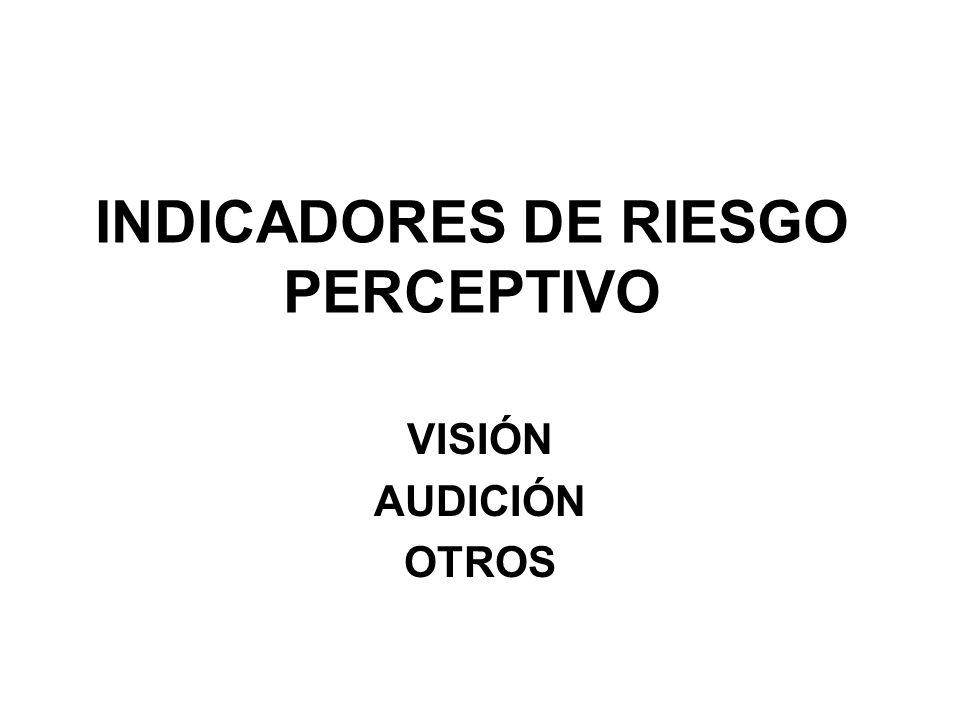 INDICADORES DE RIESGO PERCEPTIVO