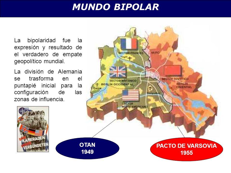 MUNDO BIPOLAR La bipolaridad fue la expresión y resultado de el verdadero de empate geopolítico mundial.