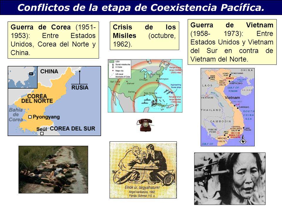 Conflictos de la etapa de Coexistencia Pacífica.