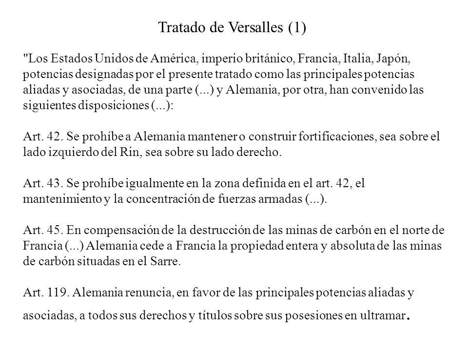 Tratado de Versalles (1)