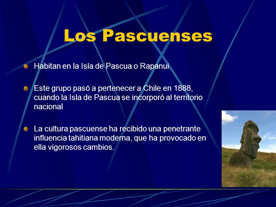 Los Pascuenses Habitan en la Isla de Pascua o Rapanui