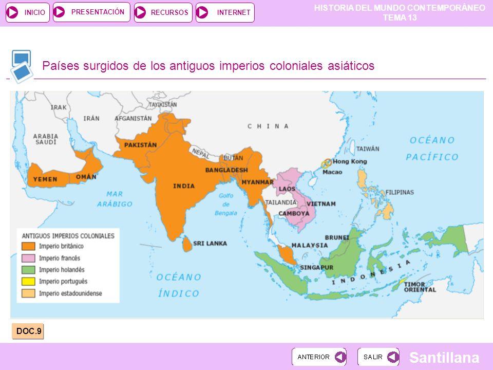 Países surgidos de los antiguos imperios coloniales asiáticos
