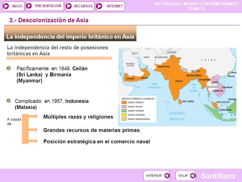 3.- Descolonización de Asia