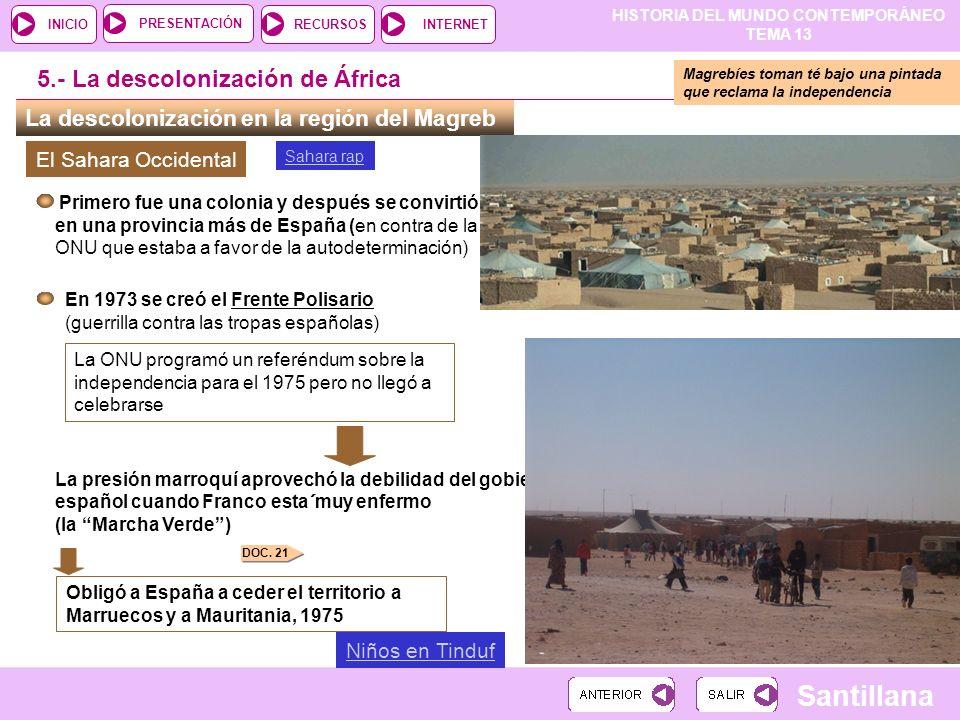 5.- La descolonización de África